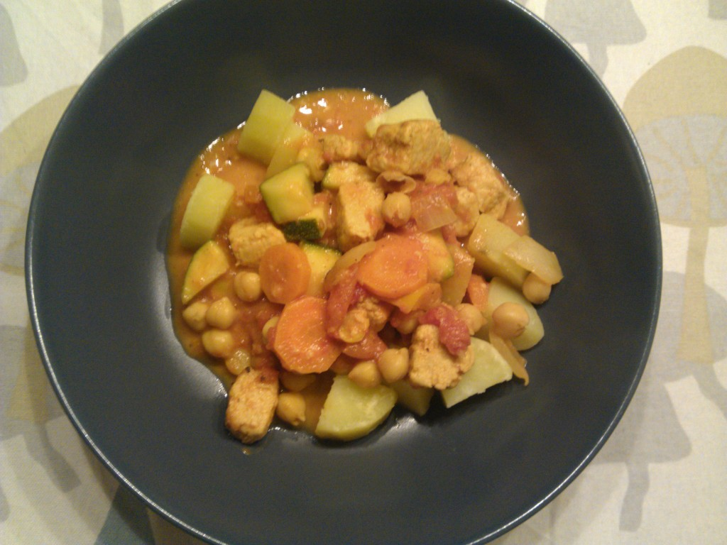 Curry with chickpeas & quorn