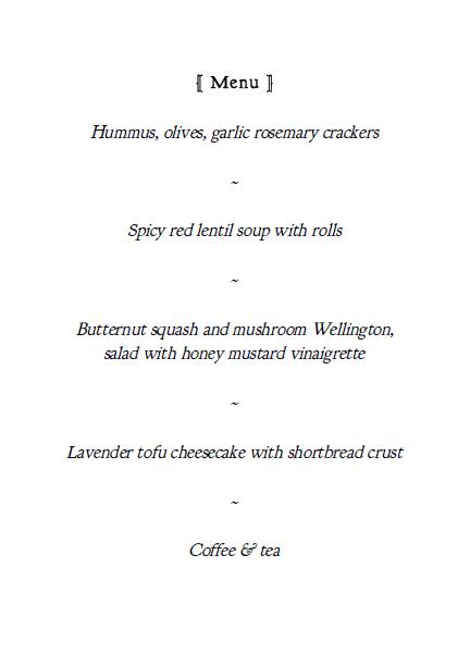 menu_for_dinner