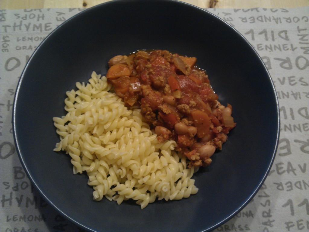 Borlotti bean pasta