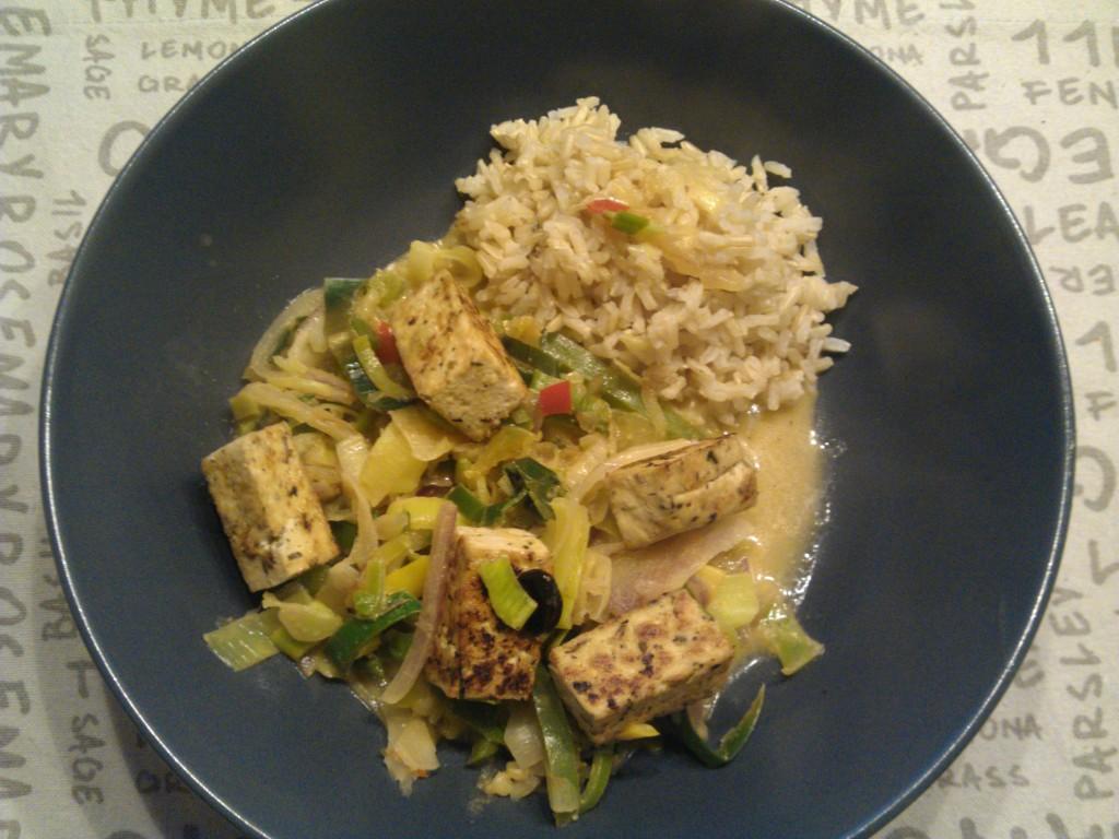 A wok-like dinner
