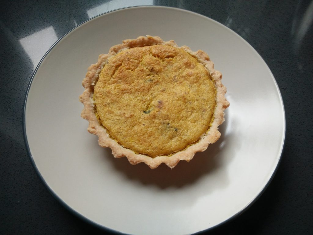 Mini vegan veggie tart